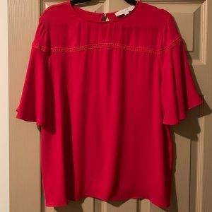 Beautiful red S/S blouse!